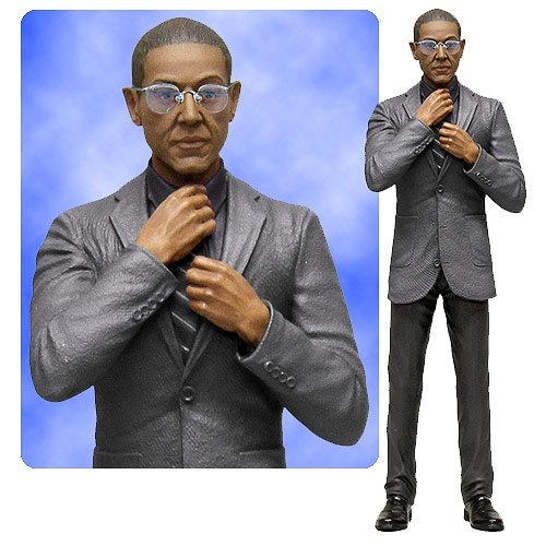 Breaking Bad Gus Fring 6-Inch Action Figure figure, produced by Mezco Toyz. Front view.