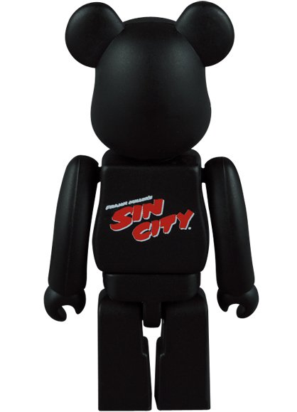 Sin City Be@rbrick 100% figure by Frank Miller, produced by Medicom Toy. Back view.