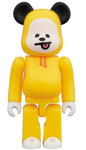 BT21 - CHIMMY BE@RBRICK 100% figure, produced by Medicom Toy. Front view.
