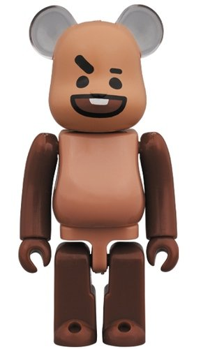 BT21 - SHOOKY BE@RBRICK 100% figure, produced by Medicom Toy. Front view.