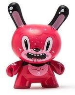 Bubblegum Bear figure by Squink!, produced by Kidrobot. Front view.