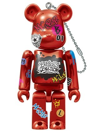 Buster Bros!!! by Hypnosis Mic-Division Rap Battle BE@RBRICK 100% figure, produced by Medicom Toy. Front view.
