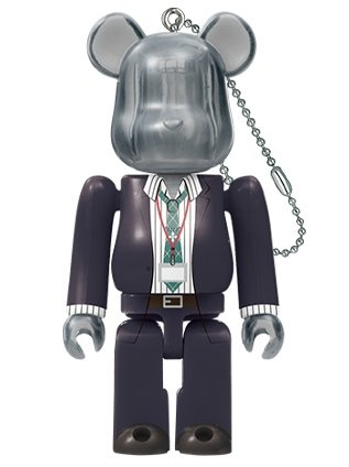 DOPPO KANNONZAKA by Hypnosis Mic-Division Rap Battle BE@RBRICK 100% figure, produced by Doppo Kannonzaka. Front view.
