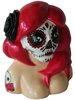 Calavera Girl Bust - Red Hair