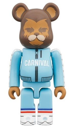 Carnival The Lion BE@RBRICK 100% figure, produced by Medicom Toy. Front view.