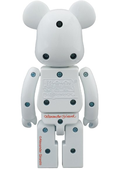 LOVE Bianco Be@rbrick 200% figure by Alexander Girard, produced by Medicom Toy X Bandai. Back view.