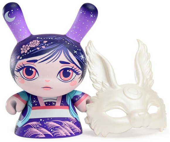 Chang E figure by Mj Hsu, produced by Kidrobot. Front view.