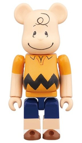 CHARLIE BROWN BE@RBRICK 100% figure, produced by Medicom Toy. Front view.