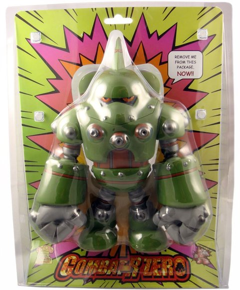 Combat-R Zero Swamp figure by Robert De Castro, produced by Atomic Mushroom. Packaging.