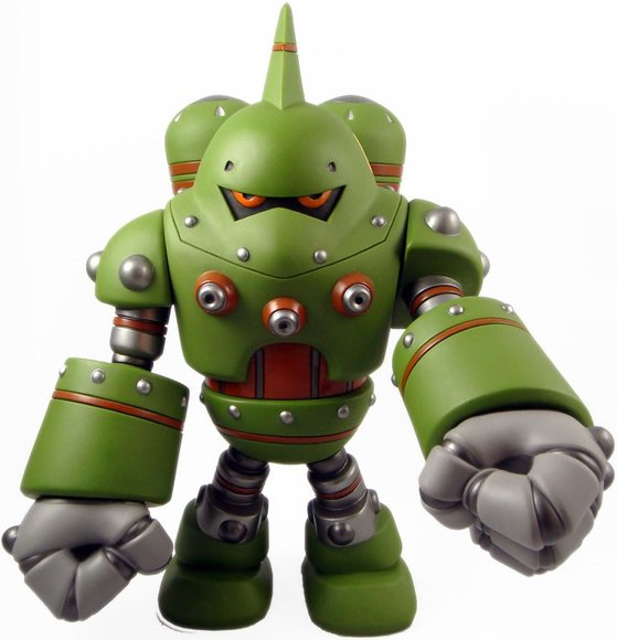 Combat-R Zero Swamp figure by Robert De Castro, produced by Atomic Mushroom. Front view.