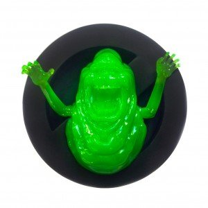 Commemorative Slimer Reliefs figure by Pretty In Plastic, produced by Pretty In Plastic. Front view.