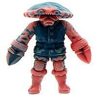 Crawdad Kid figure by Daniel Yu, produced by October Toys. Front view.
