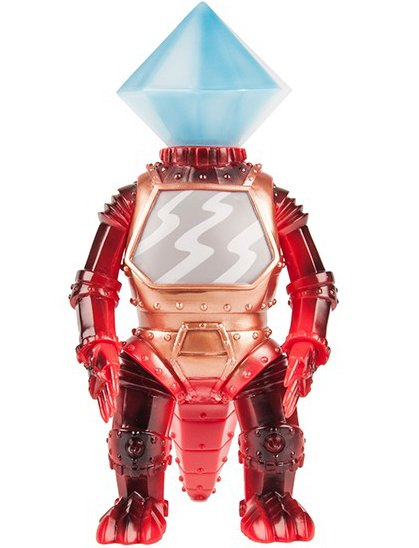 Crystal-Mecha figure by Brian Flynn, produced by Super7. Front view.