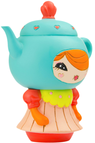 Cuppa T figure by Yota Sampasneethumrong, produced by Momiji. Side view.