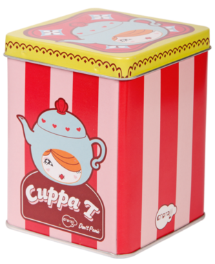 Cuppa T figure by Yota Sampasneethumrong, produced by Momiji. Packaging.