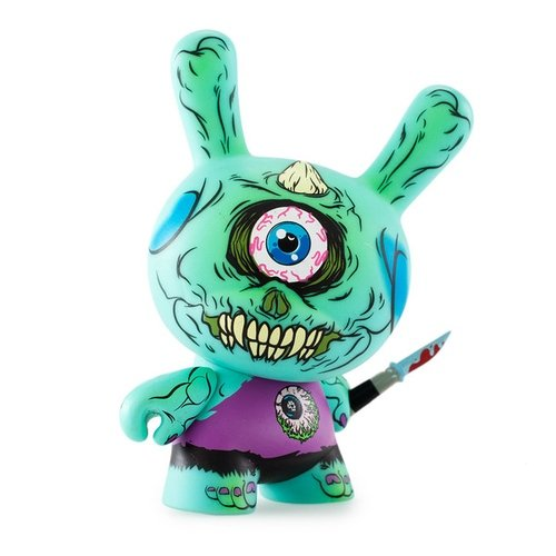 Cyco 78 figure by Maurice Blanco, produced by Kidrobot X Mishka. Front view.