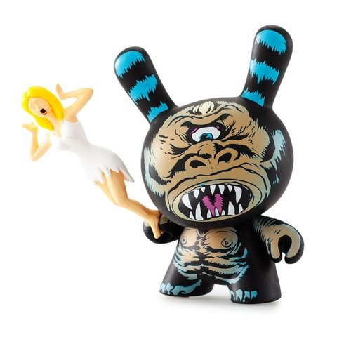 Cyco Ape figure by LAmour Supreme, produced by Kidrobot X Mishka. Front view.