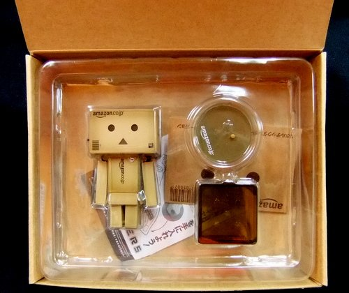 Danboard - Mini Amazon.co.jp version figure by Enoki Tomohide, produced by Kaiyodo. Packaging.