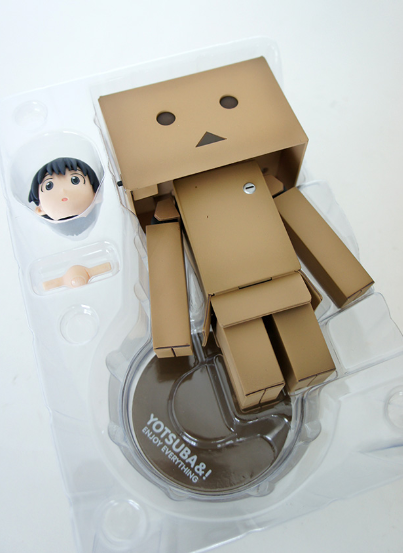 Danboard figure by Enoki Tomohide, produced by Kaiyodo. Front view.
