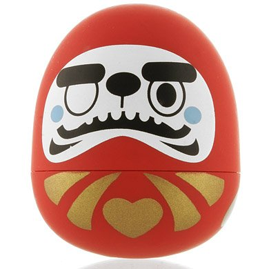 Daruma figure by Tado, produced by Kidrobot. Front view.