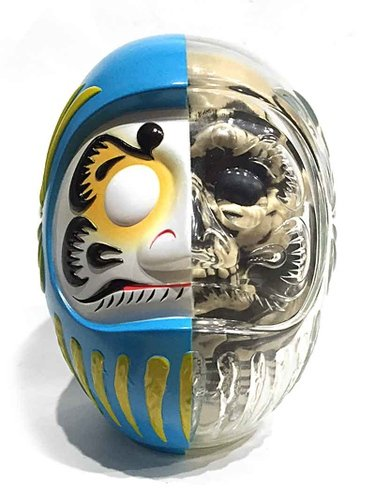 DARUMA SKULL X-RAY FULL COLOR figure by Kazzrock, produced by Secret Base. Front view.