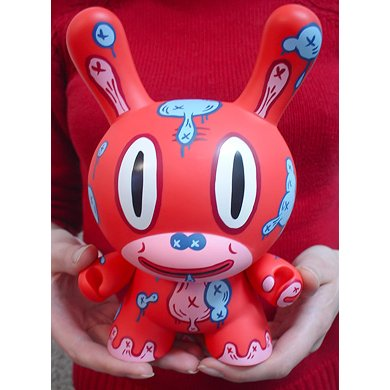 RED MOD figure by Gary Baseman, produced by Kidrobot. Detail view.