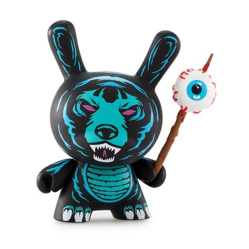 Death Adder figure by Mishka, produced by Kidrobot X Mishka. Front view.