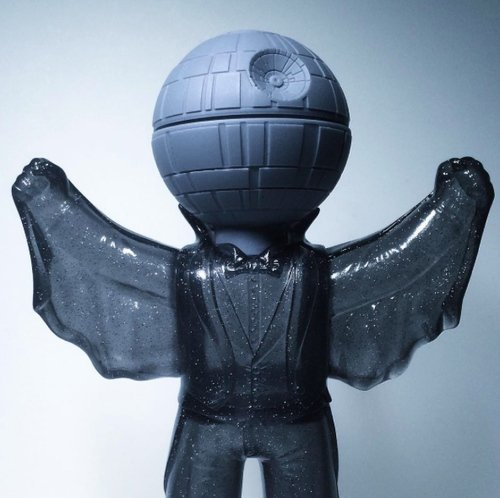Death Star Quackula figure by David Healey, produced by Healeymade. Front view.