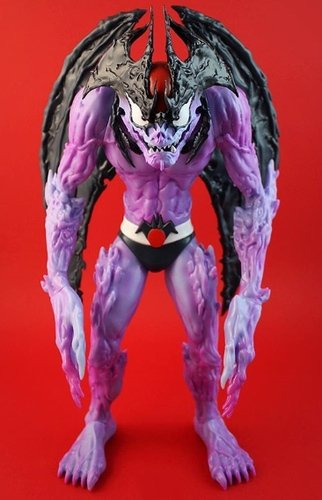 Devilman - Sutfin Variant (Purple Version) figure by Mike Sutfin, produced by Unbox Industries. Front view.