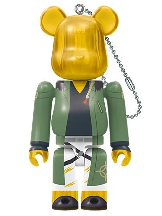 DICE ARISUGAWA by Hypnosis Mic-Division Rap Battle BE@RBRICK 100% figure, produced by Medicom Toy. Front view.