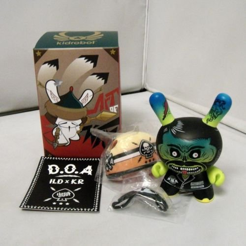 D.O.A. figure by Ilovedust, produced by Kidrobot. Front view.