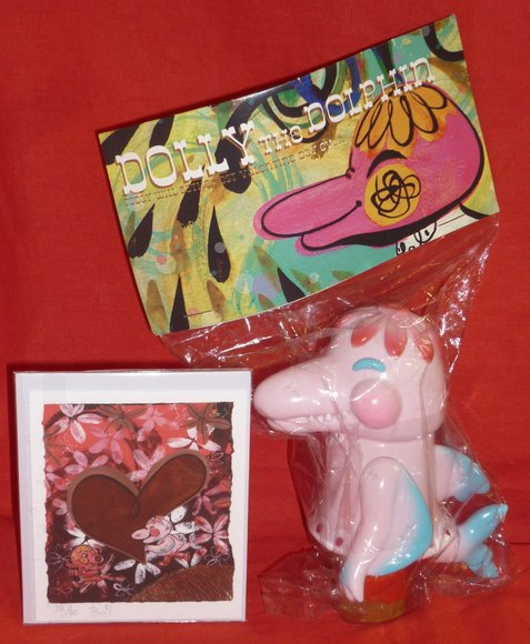 Dolly the Dolphin - Valentines Dolly figure by Bwana Spoons, produced by Gargamel. Packaging.