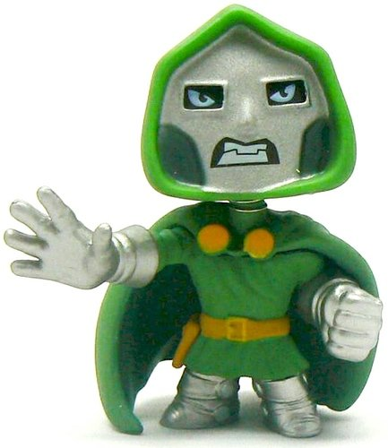 Dr. Doom figure by Marvel, produced by Funko. Front view.