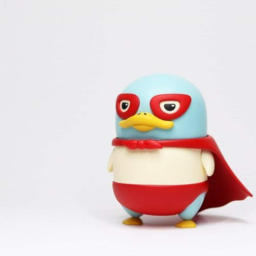 Duckoo Libre figure, produced by Chococider. Front view.