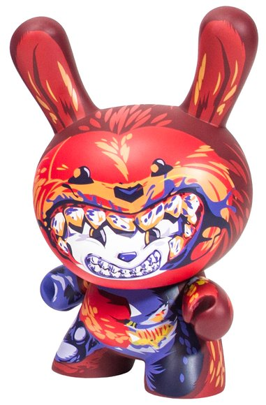 Dunnibal Dunny - Chase figure by Ilovedust, produced by Kidrobot. Front view.