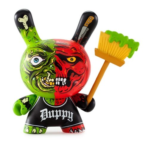 Duppy Dunny figure by Dane Thompson, produced by Kidrobot X Mishka. Front view.