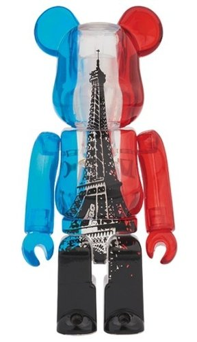 EIFFEL TOWER BE@RBRICK 100% figure, produced by Medicom Toy. Front view.