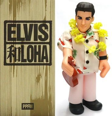 Elvis Aloha figure, produced by Furi Furi Company. Front view.