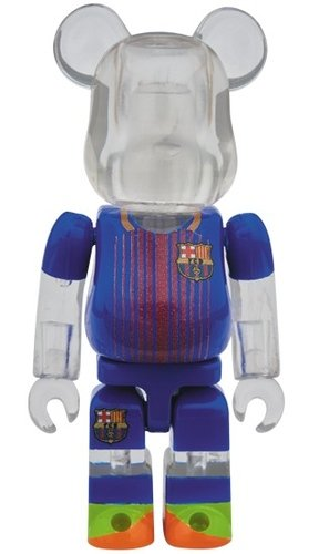 FCBARCELONA BE@RBRICK 100% figure, produced by Medicom Toy. Front view.