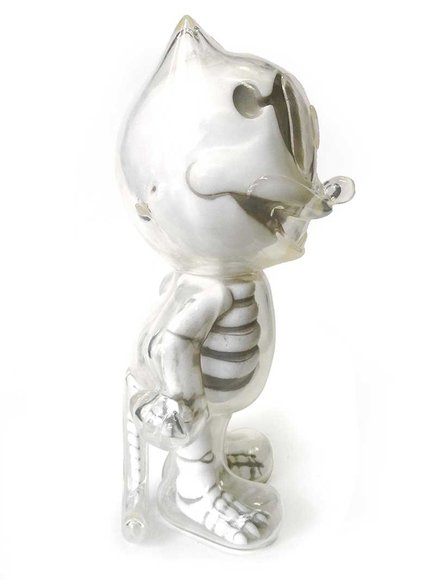 FELIX THE CAT X-RAY WHITE figure by Secret Base, produced by Secret Base. Back view.