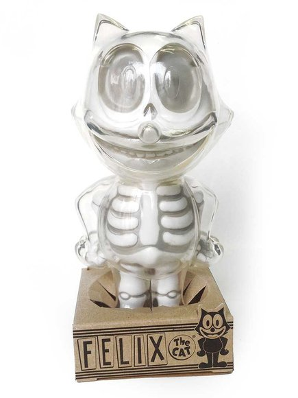 FELIX THE CAT X-RAY WHITE figure by Secret Base, produced by Secret Base. Packaging.