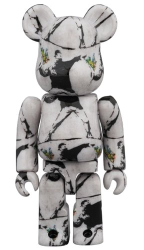 FLOWER BOMBER BE@RBRICK 100% figure, produced by Medicom Toy. Front view.