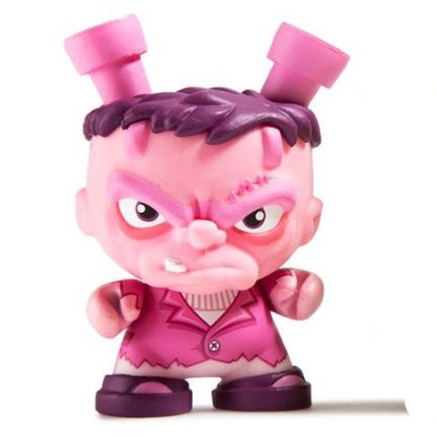 Francis (Pink) figure by Scott Tolleson, produced by Kidrobot. Front view.
