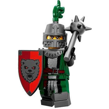 Frightening Knight figure by Lego, produced by Lego. Front view.