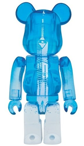 Fukuoka Tower BE@RBRICK 100% figure, produced by Medicom Toy. Front view.