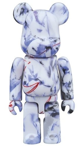 FUTURA BE@RBRICK 100% figure, produced by Medicom Toy. Front view.