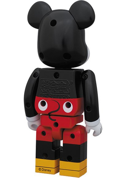 Mickey Mouse Be@rbrick 200% figure by Disney, produced by Medicom Toy X Bandai. Back view.