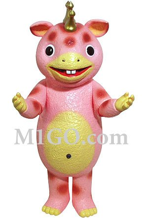 Giant Booska Pink figure by Yuji Nishimura, produced by M1Go. Front view.