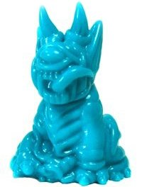 Gacha Mini Blue - Demon Dog figure by Paul Kaiju, produced by Paul Kaiju Toys. Front view.