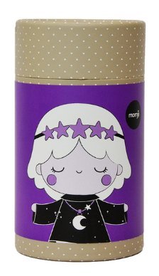 Galaxy Girl figure by Luli Bunny, produced by Momiji. Packaging.